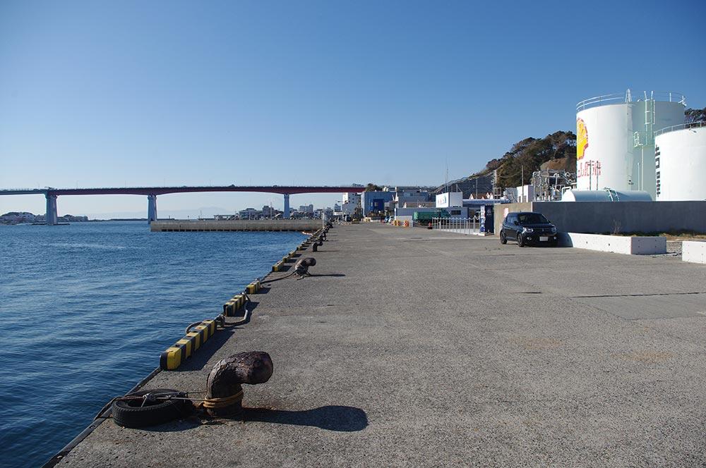 晴海町岸壁