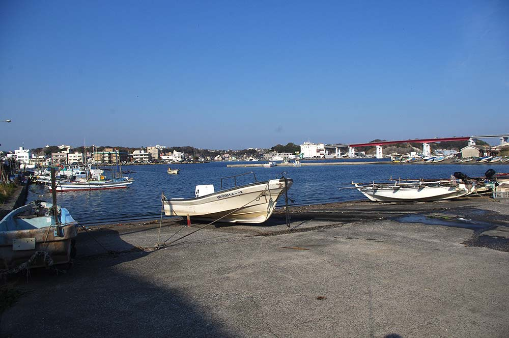 城ヶ島の小さな漁港