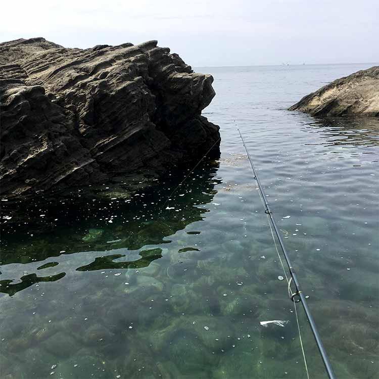 佃嵐崎でカサゴが釣れた場所